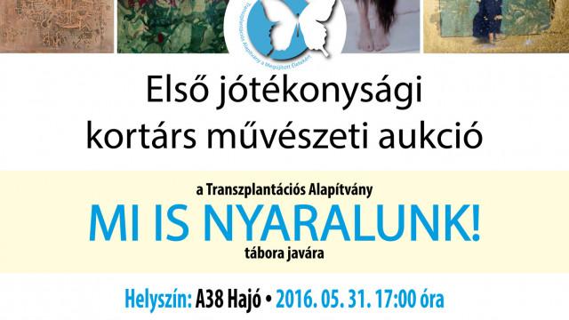 Első jótékonysági kortárs művészeti aukció a Transzplantációs Alapítvány MI IS NYARALUNK! tábora javára