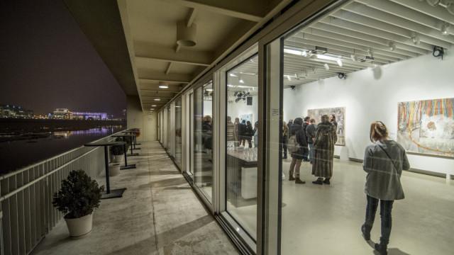 Szigeti Tamás Sűrűség című kiállításának a megnyitója