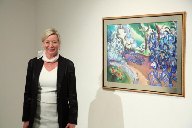 Horváth Éva Mónika Fejlesztés című kiállításának megnyitója