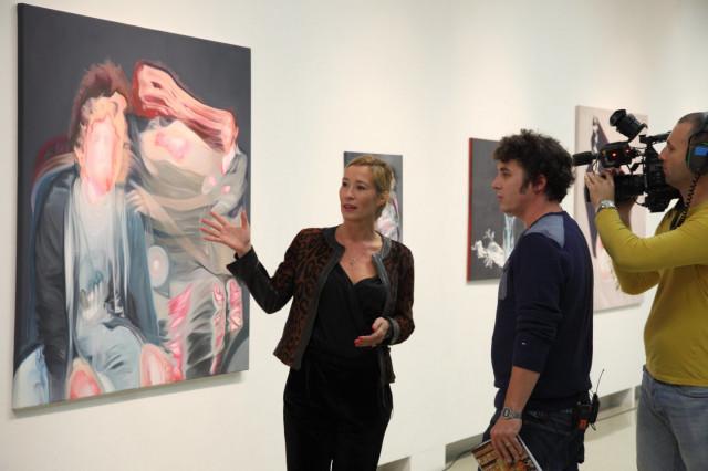 Csurka Eszter Zónába kerülni című kiállításának megnyitója