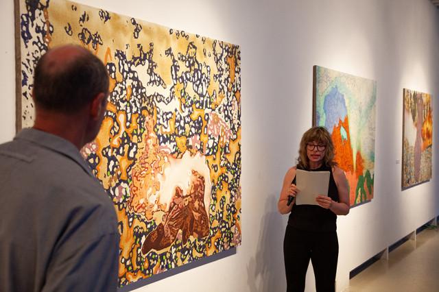 Szigeti Tamás Elemek című kiállításának a megnyitója